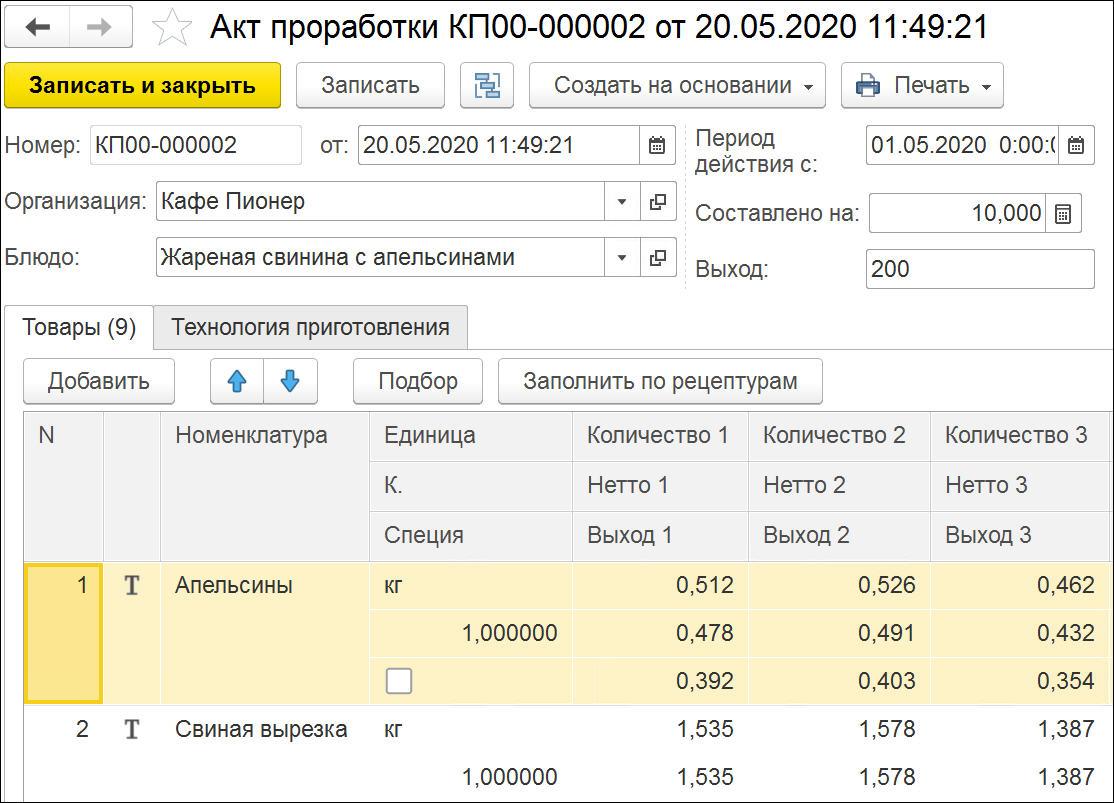 1С ДНР, 1С Донецк, Акт проработки