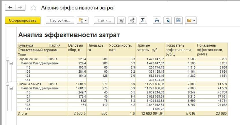 1С ДНР, 1С Донецк, Анализ эффективности затрат