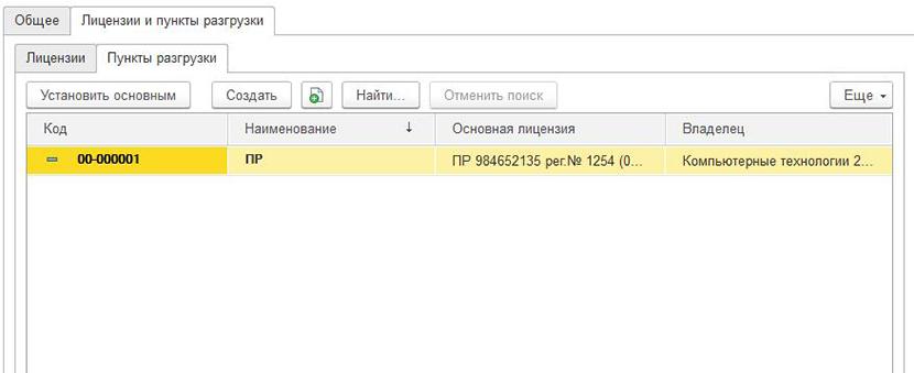 1С ДНР, 1С Донецк, Пункты разгрузки