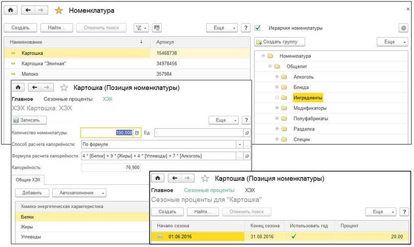 1С ДНР, 1С Донецк, Номенклатура, Позиция номенклатуры