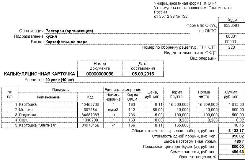 1С ДНР, 1С Донецк, Унифицированная форма