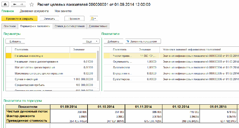 1С ДНР, 1С Донецк, Расчет целевых показателей