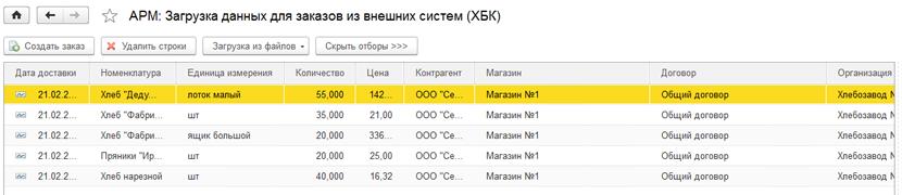 1С ДНР, 1С Донецк, АРМ загрузка данных для заказов из внешних систем